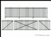 Peco LK-741 O Gauge GWR Spear Fencing - Straight & Gates Fencing(890mm)1 Lge 2 sml Gates